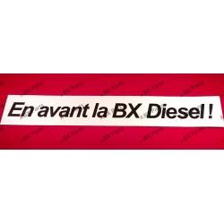 """RAAMSTICKER """"En avant la BX..."""