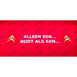 "WINDOW STICKER ""ALLEEN EEN..."