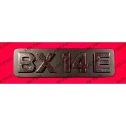 """BX 14 E"" REAR NAME-PLATE..."