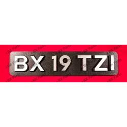 """BX 19 TZI"" REAR NAME-PLATE..."