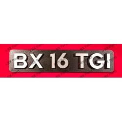 """""""BX 16 TGI"""" REAR NAME-PLATE..."""