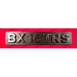 """""""BX 16 TRS"""" REAR NAME-PLATE..."""