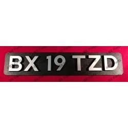 """""""BX 19 TZD"""" REAR NAME-PLATE..."""