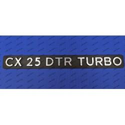 """CX 25 DTR TURBO"" REAR..."