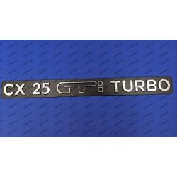 """""""CX 25 GTi TURBO"""" REAR..."""