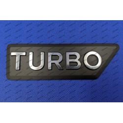 """""""TURBO"""" NAME-PLATE CX (METAL)"""