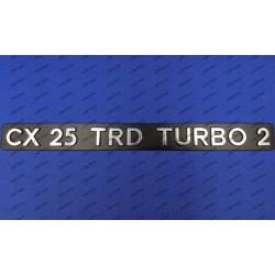 """CX 25 TRD TURBO 2"" REAR..."