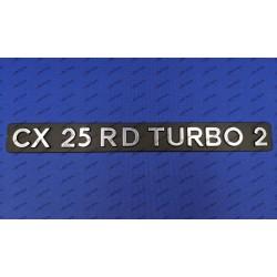 """CX 25 RD TURBO 2""..."