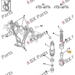 1984 60 ENGINE INJECTOR BX...
