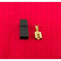 6,3 MM Stecker - schwarz